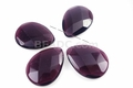 Purple Amethyst Quartz (Synthetic) 30x40x10mm Faceted Pear Beads 4pcs.