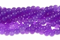 Purple Candy Jade 8mm Round Beads 16""