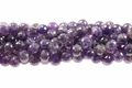 Purple Dark Amethyst 10mm Faceted Round Beads 15.5""
