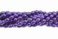 Purple Magnesite 8x12mm Rice Beads 15.5""
