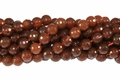 Red Agate 8mm Faceted Round Beads 16""