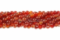 Red Agate 8mm Round Beads 16""