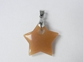 Red Aventurine 28mm Star With Hole Pendant