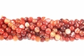 Red Banded Agate 8mm Faceted Round Beads 16""
