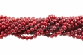 Red Coral 8mm Round Beads 16""