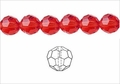 Red Crystal 10mm Faceted Round Beads 50 pcs.