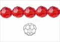 Red Crystal 12mm Faceted Round Beads 50 pcs.