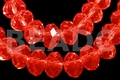 Red Crystal 12x8mm Faceted Rondelle Beads 72 pcs.