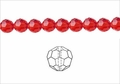 Red Crystal 4mm Faceted Round Beads 100 pcs.