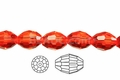 Red Crystal 6x8mm Faceted Rice Beads 72 pcs.