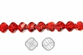 Red Crystal 8mm Faceted Helix Beads 68-72pcs