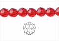 Red Crystal 8mm Faceted Round Beads 72 pcs.