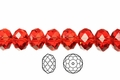 Red Crystal 8x10mm Faceted Rondelle Beads 72 pcs.