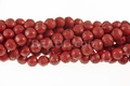 Red Howlite Magnesite 10mm Craved Beads 15.5""