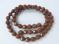 Red Jasper 8mm Faceted Round Beads 16""