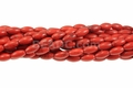 Red Magnesite 6x12mm Rice Beads 16""