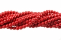 Red Magnesite 8mm Round Beads 15.5""