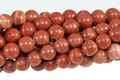 Red Malachite 8mm Round Beads 16""