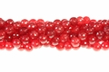 Red Ruby Jade 10mm Faceted Round Beads 15.5""