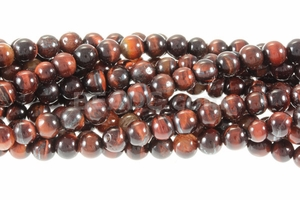 Red Tiger Eye 6mm Round Beads 16""