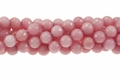 Rhodonite Jade 12mm Faceted Round Beads 16""