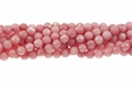 Rhodonite Jade 8mm Faceted Round Beads 16""