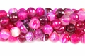 Rose Stripe Agate 10mm Faceted Round Beads 16""