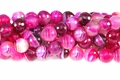 Rose Stripe Agate 12mm Faceted Round Beads 40 cm
