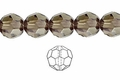 Smokey Crystal 12mm Faceted Round Beads 50 pcs.