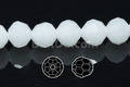 Snow White Quartz 12mm Faceted Round Beads 40 pcs.