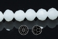 Snow White Quartz 8mm Faceted Round Beads 50 pcs.