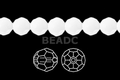Snow White Quartz 8mm Faceted Round Beads 72 pcs.