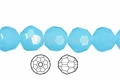 Synthetic Aqua Quartz 4mm Faceted Round Beads 100 pcs.