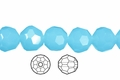 Synthetic Aqua Quartz 8mm Faceted Round Beads 50 pcs.