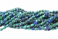 Synthetic Azurite Malachite 4x6mm Rice Beads 16""