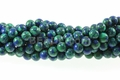 Synthetic Azurite Malachite 8mm Round Beads 16""