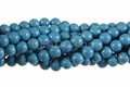 Synthetic Blue Turquoise 8mm Round Beads 16""