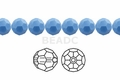 Synthetic Chalcedony 12mm Faceted Round Beads 50 pcs.