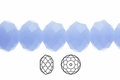 Synthetic Chalcedony 3x4mm Faceted Rondelle Beads 100 pcs.