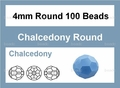Synthetic Chalcedony 4mm Faceted Round Beads 15""