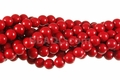 Synthetic Coral 8mm Round Beads 16""