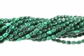 Synthetic Green Malachite 4x6mm Rice Beads 16""