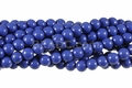 Synthetic Lapis 8mm Round Beads 16""