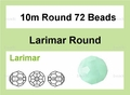 Synthetic Larimar 10mm Faceted Round Beads 72 pcs.