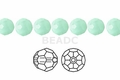 Synthetic Larimar 12mm Faceted Round Beads 50 pcs.