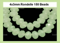 Synthetic Larimar 3x4mm Faceted Rondelle Beads 150 pcs.