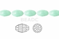 Synthetic Larimar 4x6mm Faceted Rice Beads 72 pcs.