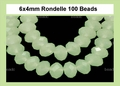 Synthetic Larimar 4x6mm Faceted Rondelle Beads 100 pcs.