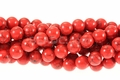 Synthetic Red Turquoise 8mm Round Beads 16""