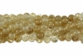 Synthetic Rutile Quartz 8mm Round Beads 16""